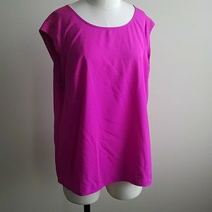 Polyester HOT PINK top